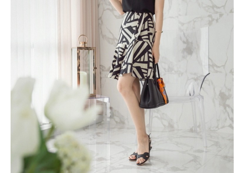 Quety Pattern Skirt