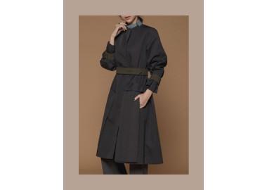 Liberty Trench Coat  (Dark Gray)