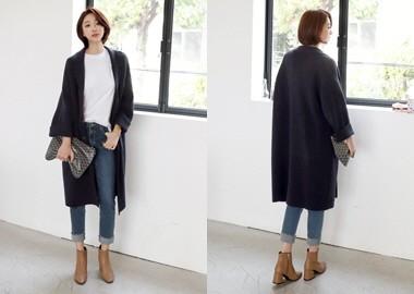 Charles Wool Knit Coat