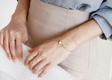Circle Raw Stone Bracelet