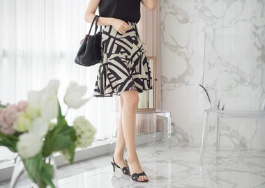 Quety Pattern Skirt