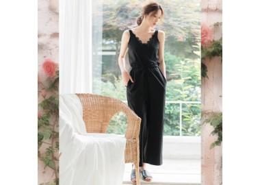 Linen Sleeveless Jumpsuit