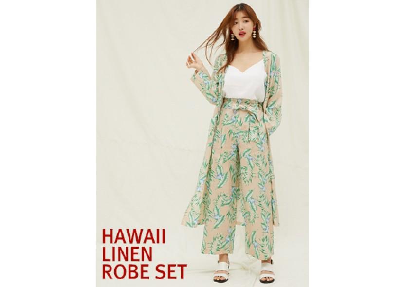 Hawaii Linen Robe Set