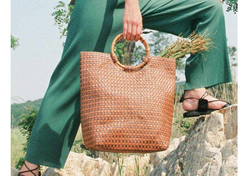 Summertime Bamboo Tote Bag
