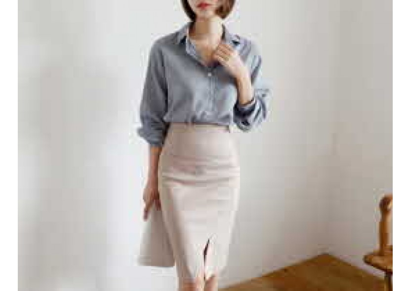 Ode Diagonal Slit Skirt