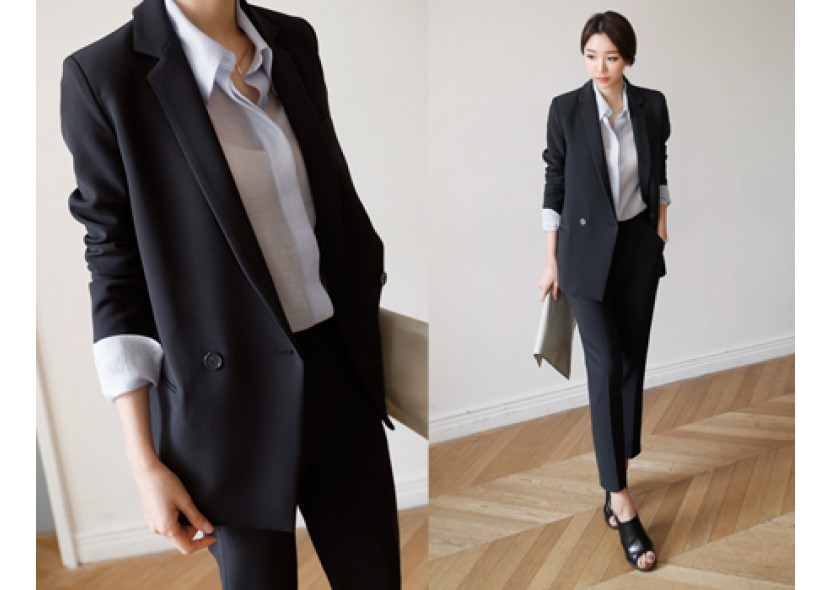 Classic One Button Jacket Set