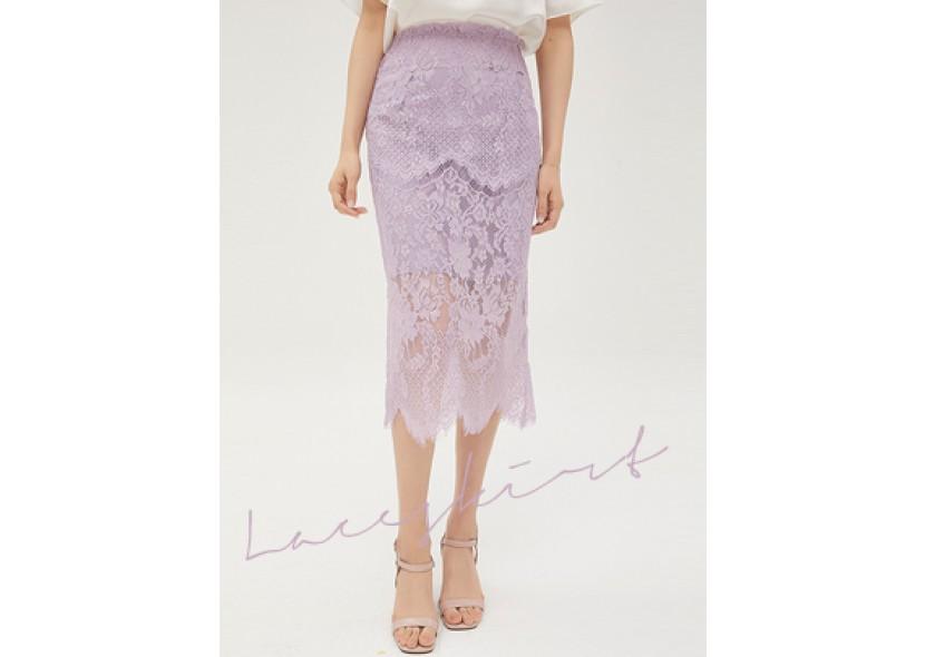 Fion Lace Skirt (Light Purple)