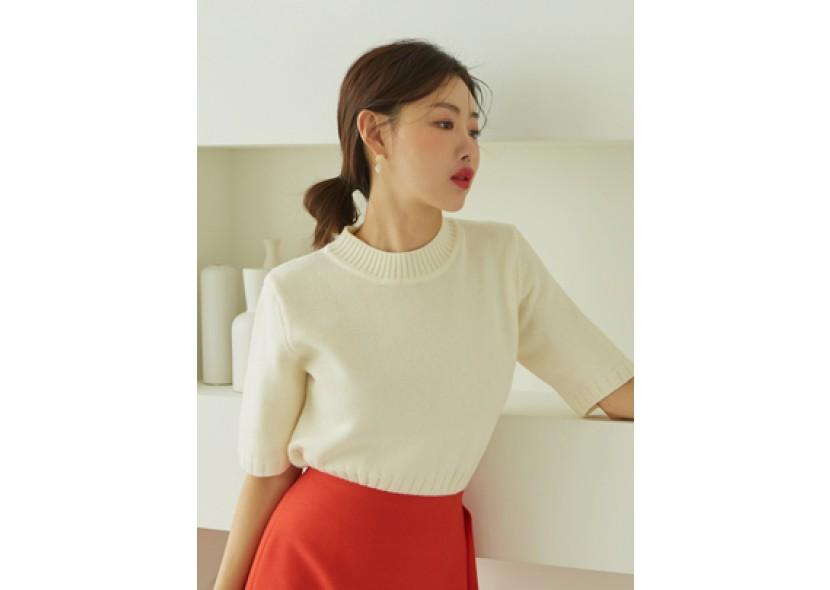 Mild short-sleeved Knit