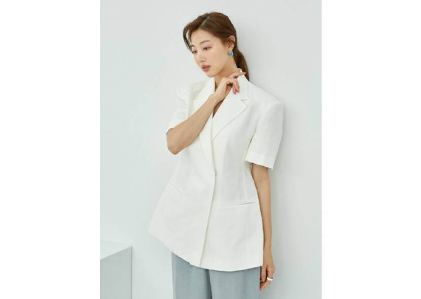 Story Short-sleeve Jacket (Ivory)