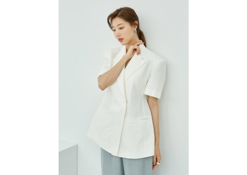 Story Short-sleeve Jacket (Ivory)