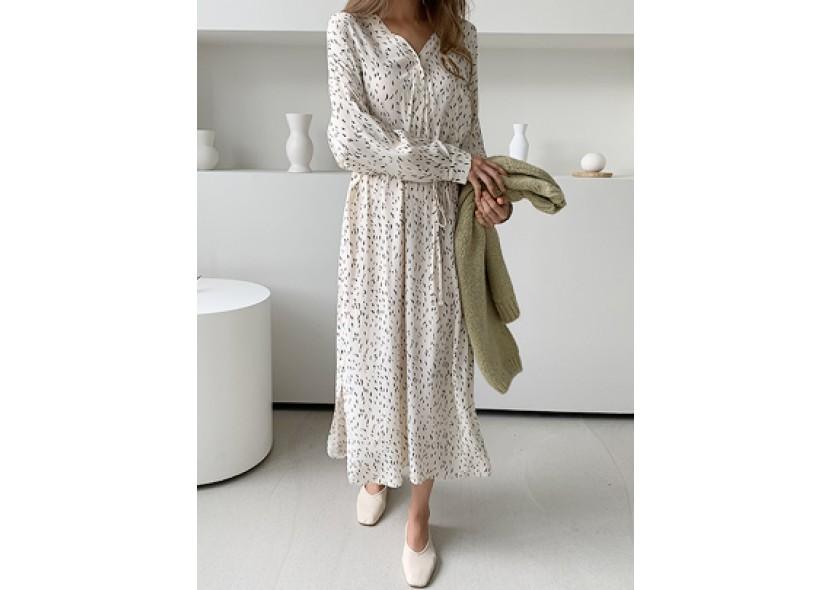 Melby Digital Printing Dress (Ivory)