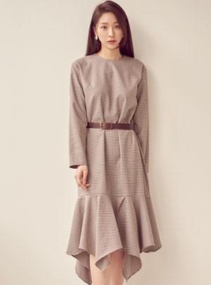 Indigo Check Dress*Pre-Order*