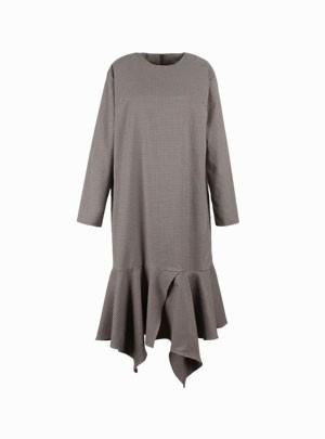 Indigo Check Dress
