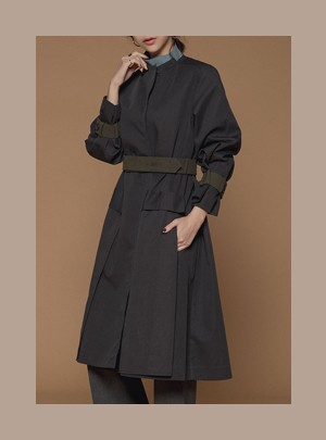 Liberty Trench Coat  (Dark Gray)
