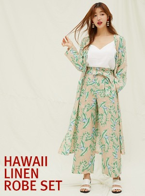 Hawaii Linen Robe Set