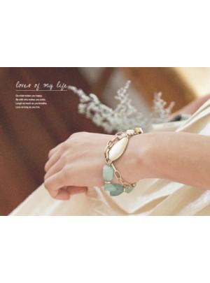 Mint Stone Gold Bracelet