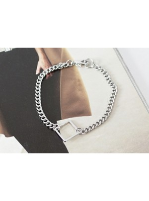 Square Ring Chain Bracelet