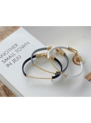 Leather Gold Coloratio Bracelet