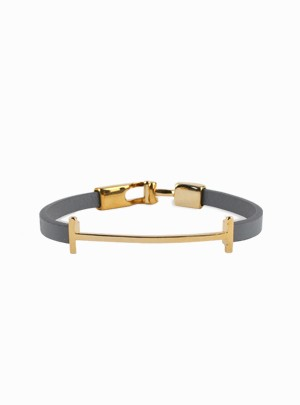Leather Gold Coloratio Bracelet