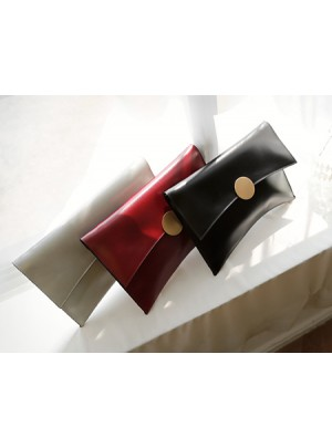 Clean Square Gold Point Clutch Bag