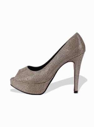 Bling Bling Platform Heels (Gold) - Size 245 Only