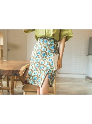Palm Palm Flower Pattern Skirt