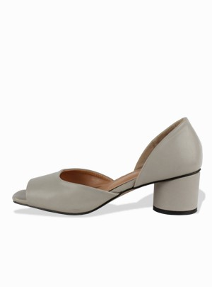 Veroni Open Middle Heels (Black) - Size 240 Only