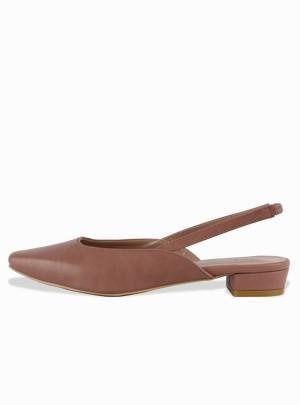 Romantic Spring Slingback Heels (Black) - Size 250 Only