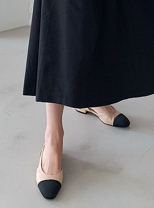 Color Scheme Sling Back Middle Heel
