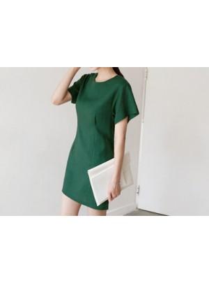 Round Neck Linen Dress