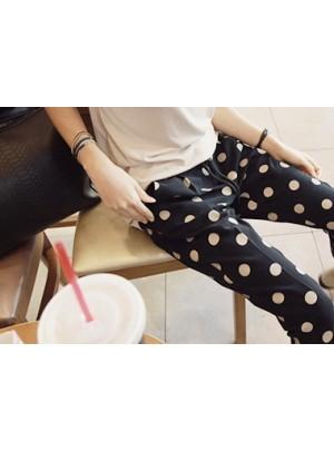 Polka Dot Cropped Pants
