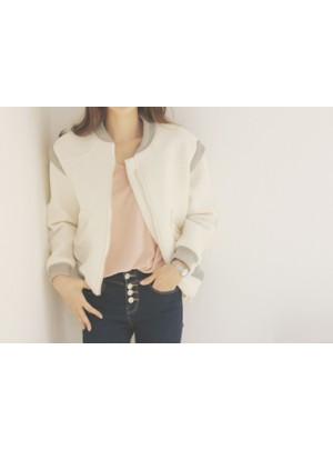 Zipped Jacket (Ivory)