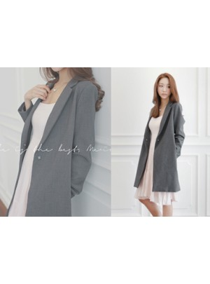 Chic Long Jacket (Grey)