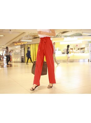 Aubree Wide Pants (Red)
