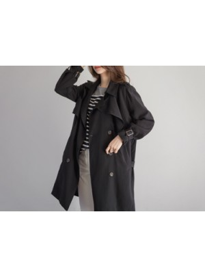 Asia Trench Coat (Black)