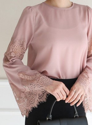 Lace Point Blouse