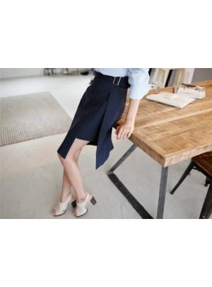 Kiara Buckle Wrap Skirt