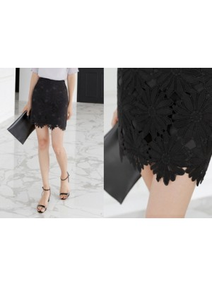 Sunflower Lace Mini Skirt