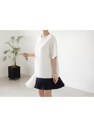 Sonobi Color Block Pleats Dress
