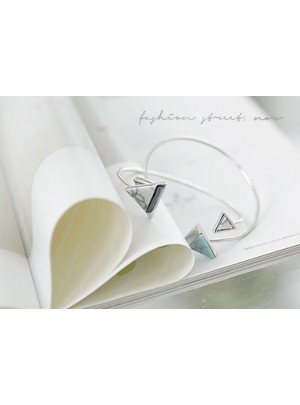 Triangle Marble Bangle