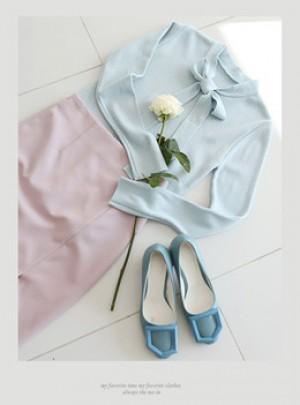 Ribbon Slim Knit