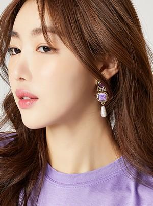 FleurPurple Earring