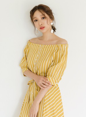 Joy Stripe Linen Dress