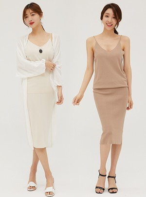 Darcy Sleeveless-Skirt Set