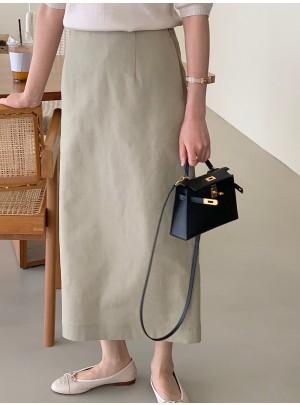 Linen H-Line Skirt