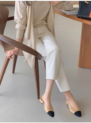 Cream Denim Pants