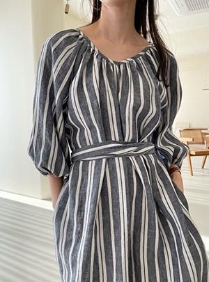 Stripe Linen Dress