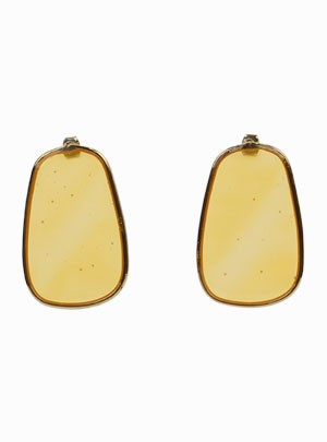 Oval Translucent Earrings