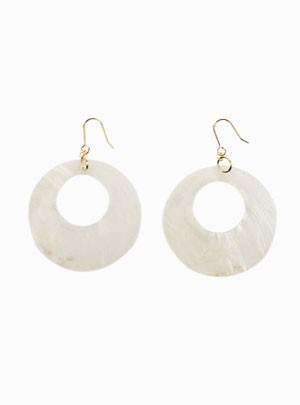 Clamshell O-Ring Earrings