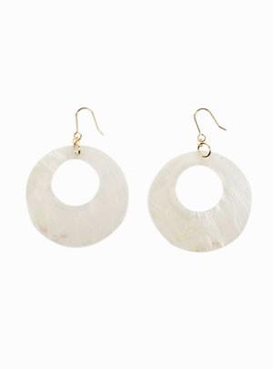 Clamshell O-Ring Earrings